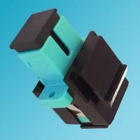 Black Keystone Jack SC OM3/OM4 Multimode Simplex Aqua