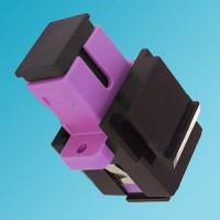 Black Keystone Jack SC OM4 Multimode Simplex Violet
