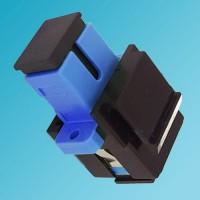 Black Keystone Jack SC Singlemode Simplex Blue