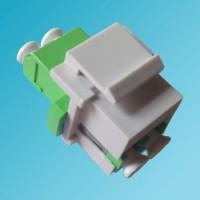 Keystone Jack LC/APC Singlemode Duplex Green