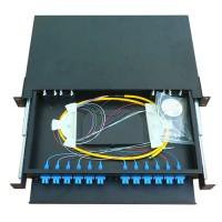 1U 12 Port SC Simplex or LC Duplex Rack Mount Patch Panel