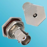 BNC Bulkhead Female to MCX Female RF Adapter