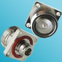 4 Hole Panel Mount With O-ring 7/16 DIN Female to N Female RF Adapter