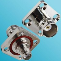 4 Hole Panel Mount With O-ring BNC Female to SMA Female RF Adapter