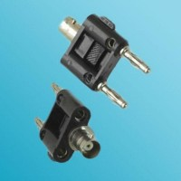 Y Type BNC Female to Two Banana Male Adapter 3 Way