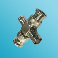 4 Way Adapter 2 BNC Female to 2 BNC Male Adapter