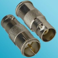 BNC Female to F Male Quick Push-on RF Adapter