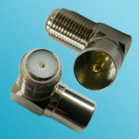Right Angle F Female to DVB-T TV PAL Male RF Adapter