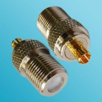 F Female to MCX Male RF Adapter