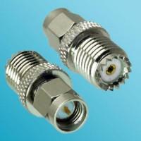 Mini UHF Female to SMA Male RF Adapter