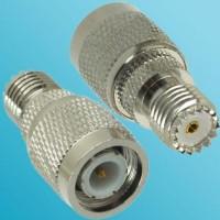 Mini UHF Female to TNC Male RF Adapter