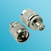 Mini UHF Female to UHF PL259 Male RF Adapter