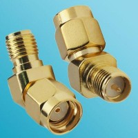 45 Degree RP SMA Female to RP SMA Male RF Adapter
