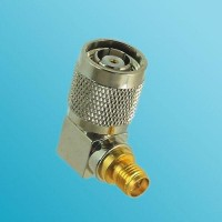 Right Angle RP SMA Female to RP TNC Male RF Adapter