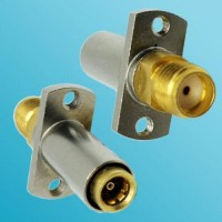 2 Hole Panel Mount SBMA Female to SMA Female RF Adapter