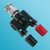 Y Type BNC Male to Two Banana Female Adapter 3 Way
