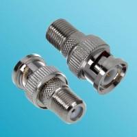 BNC Male to F Female RF Adapter