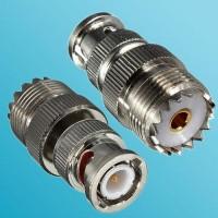 BNC Male to UHF SO239 Female RF Adapter