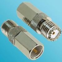 FME Male to Mini UHF Female RF Adapter