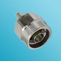 N Male to QMA Female RF Adapter