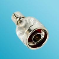 N Male to QMA Male RF Adapter