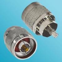 N Male to SMC Male RF Adapter