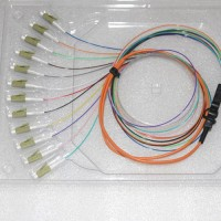 12 Strand LC/PC Ribbon Fanout Pigtails 50/125 OM2 Multimode