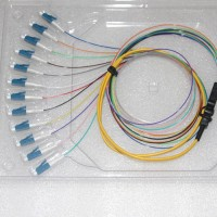 12 Strand LC/UPC Ribbon Fanout Pigtails 9/125 OS2 Singlemode