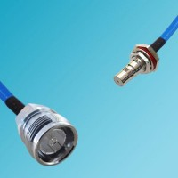 4.3/10 DIN Female to QMA Bulkhead Female Semi-Flexible Cable