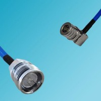 4.3/10 DIN Female to QMA Male Right Angle Semi-Flexible Cable