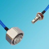 4.3/10 DIN Male to QMA Bulkhead Female Semi-Flexible Cable