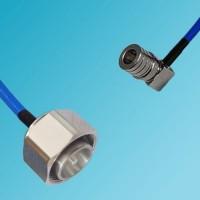 4.3/10 DIN Male to QMA Male Right Angle Semi-Flexible Cable