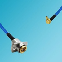 BMA 2 Hole Female to MMCX Male Right Angle Semi-Flexible Cable