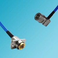 BMA 2 Hole Female to QMA Male Right Angle Semi-Flexible Cable