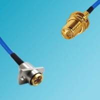 BMA 2 Hole Female to RP SMA Bulkhead Female Semi-Flexible Cable