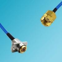 BMA 2 Hole Panel Mount Female to RP SMA Male Semi-Flexible Cable