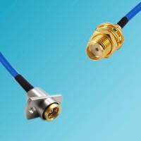 BMA 2 Hole Female to SMA Bulkhead Female Semi-Flexible Cable