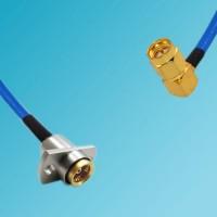 BMA 2 Hole Female to SMA Male Right Angle Semi-Flexible Cable