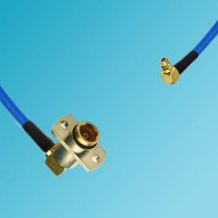 BMA 2 Hole Female R/A to MMCX Male R/A Semi-Flexible Cable