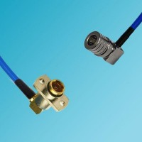 BMA 2 Hole Female R/A to QMA Male R/A Semi-Flexible Cable