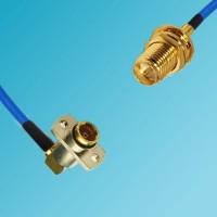 BMA 2 Hole Female R/A to RP SMA Bulkhead Female Semi-Flexible Cable