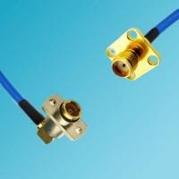BMA 2 Hole Female Right Angle to SMA 4 Hole Female Semi-Flexible Cable