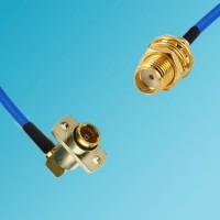 BMA 2 Hole Female R/A to SMA Bulkhead Female Semi-Flexible Cable