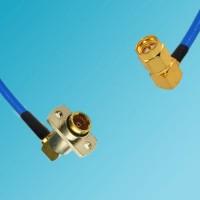 BMA 2 Hole Female R/A to SMA Male R/A Semi-Flexible Cable