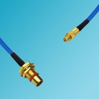 BMA Bulkhead Male to MMCX Male Semi-Flexible Cable