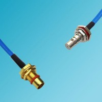 BMA Bulkhead Male to QMA Bulkhead Female Semi-Flexible Cable