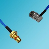 BMA Bulkhead Male to QMA Male Right Angle Semi-Flexible Cable