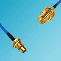 BMA Bulkhead Male to RP SMA Bulkhead Female Semi-Flexible Cable