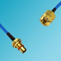 BMA Bulkhead Male to RP SMA Male Semi-Flexible Cable