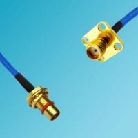 BMA Bulkhead Male to SMA 4 Hole Panel Mount Female Semi-Flexible Cable